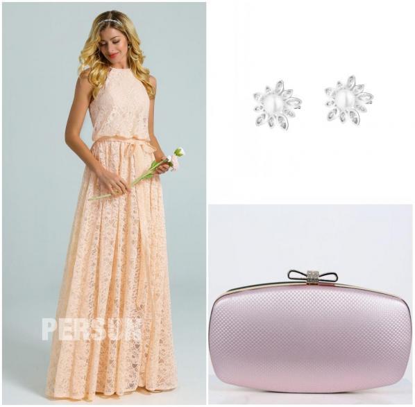 accessoires pour robe soirée dentelle longue