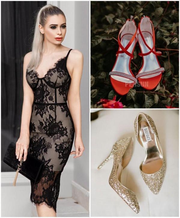comment assortir robe courte noire dentelle