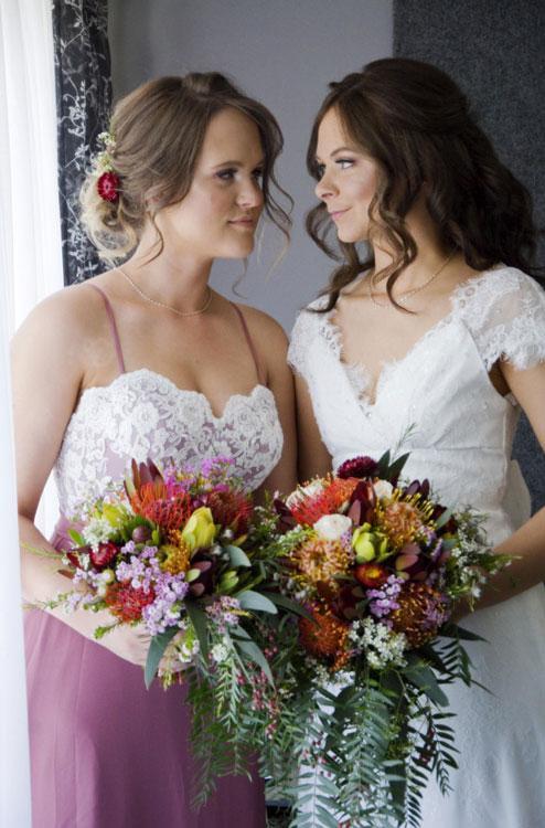 témoin mariage et mariée