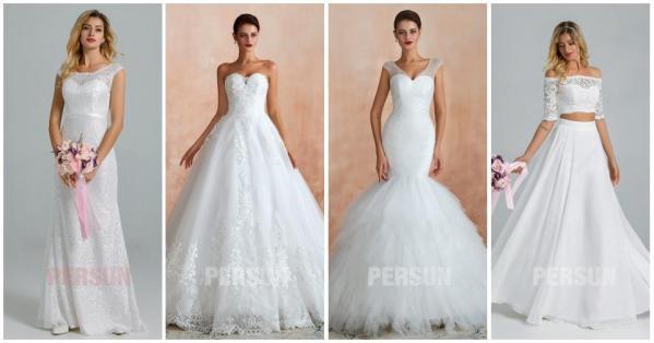 robe de mariée chic classique princesse sirène boho dentelle