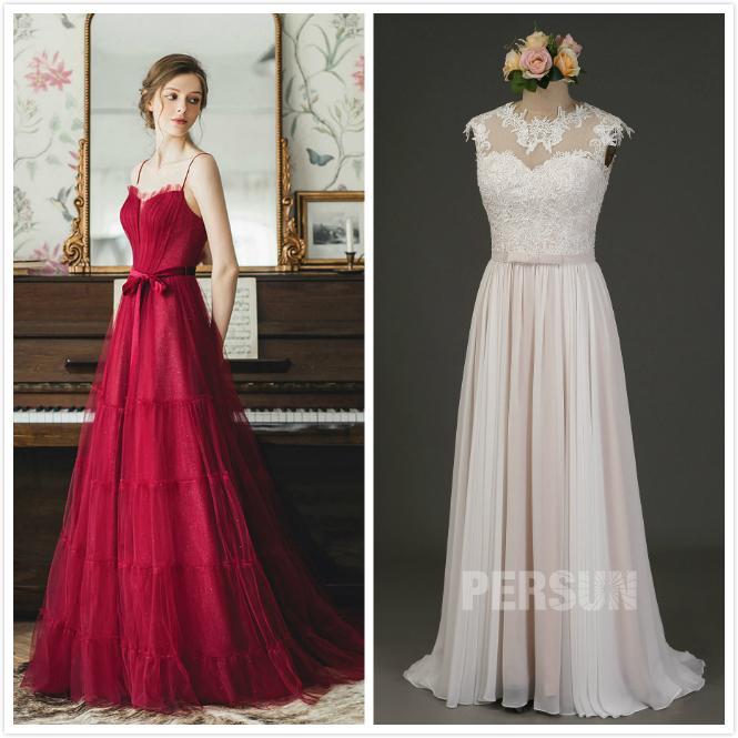 robe mariée longue colorée civile 2020